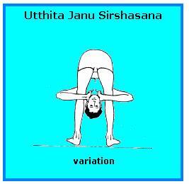 Utthita janu sirshasana (variation